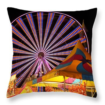 Welcome To The Nys Fair Throw Pillow by Richard Engelbrecht