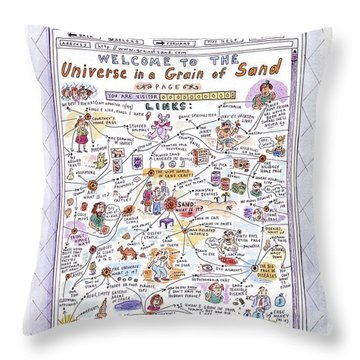 'welcome To The Universe In A Grain Of Sand' Throw Pillow