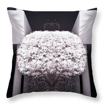 Welcome Tree Infrared Throw Pillow by Adam Romanowicz