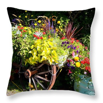 Throw Pillow featuring the photograph Welcome Wagon by Kathy Bassett