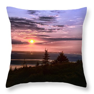 Welcoming A New Day Throw Pillow by Arnie Goldstein