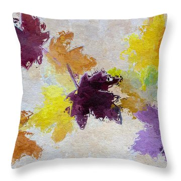 Welcoming Autumn Throw Pillow by Heidi Smith