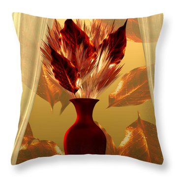 Welcoming Autumn - Still Life By Giada Rossi Throw Pillow by Giada Rossi