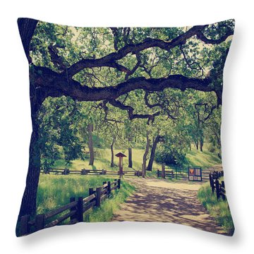 Welcoming Throw Pillow by Laurie Search