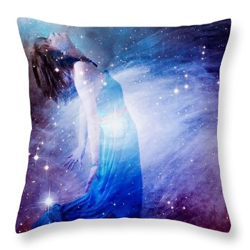 Welcoming The New Throw Pillow