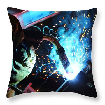 Weld Throw Pillow