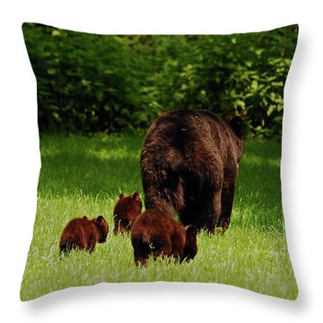 We'll Be Back Throw Pillow