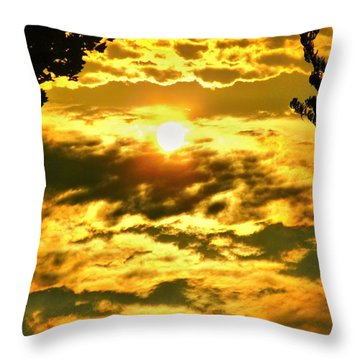 Well Good Morning Sunshine Throw Pillow by Margaret Newcomb
