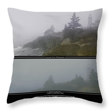 Throw Pillow featuring the photograph We'll Keep The Light On For You by Marty Saccone