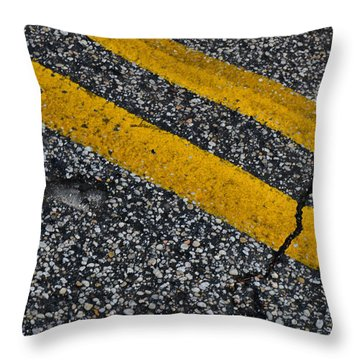 Throw Pillow featuring the photograph Well-traveled Road by Beth Sawickie