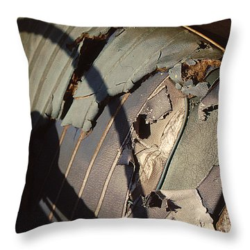 Throw Pillow featuring the photograph Well Worn Seat by Christopher McKenzie