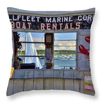 Wellfleet Harbor Thru The Window Throw Pillow