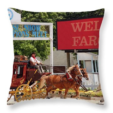 Throw Pillow featuring the photograph Wells Fargo At Devon by Alice Gipson