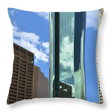 Wells Fargo Plaza Houston Tx Throw Pillow by Christine Till