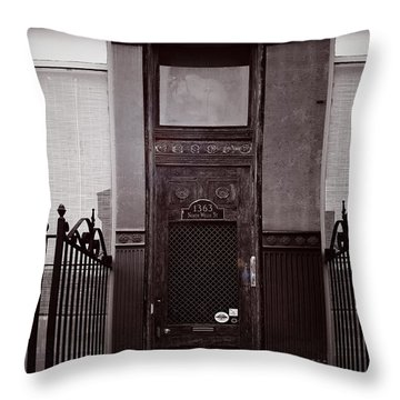 Wells Street Old Town Chicago Throw Pillow by Christine Till