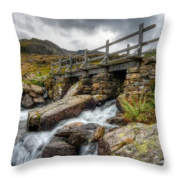 Welsh Bridge Throw Pillow by Adrian Evans