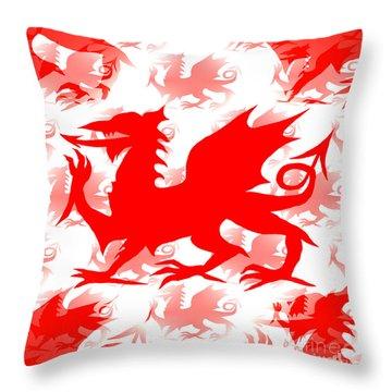 Welsh Dragon Throw Pillow