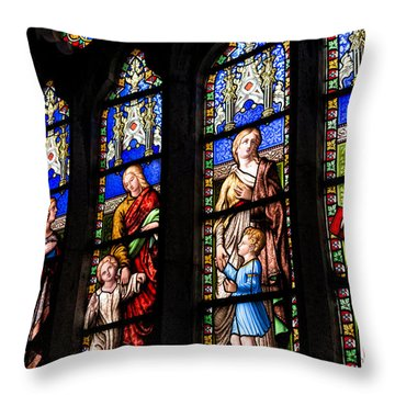 Welsh Glass Throw Pillow by Adrian Evans
