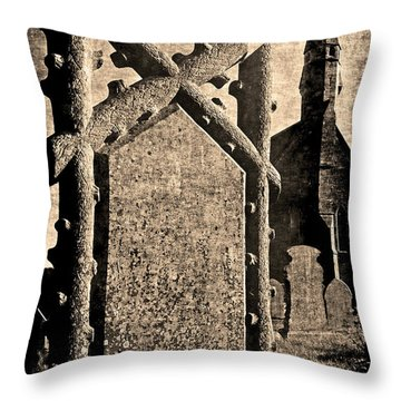 Welsh Graveyard Throw Pillow