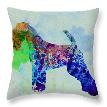 Welsh Terrier Watercolor Throw Pillow