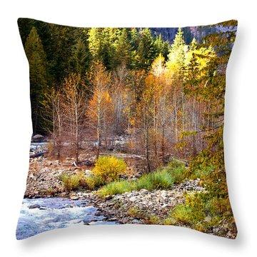 Wenatchee River - Leavenworth - Washington Throw Pillow