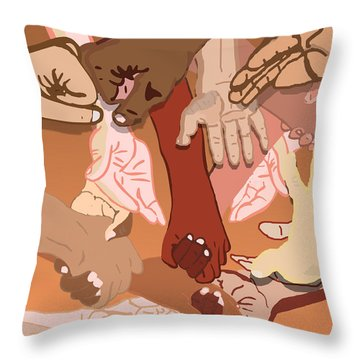 We're All In This Together Throw Pillow by Pharris Art