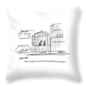 We're Throw Pillow