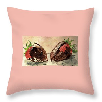 We're Great Together Valentine Throw Pillow by Angela Davies