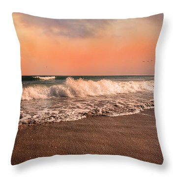 We're Having The Tide Of Our Lives Throw Pillow by Betsy Knapp