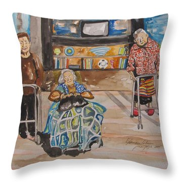 We're Still Here Throw Pillow by Esther Newman-Cohen