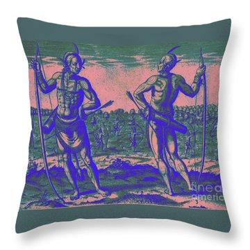 Weroans Of Virginia 1590 Throw Pillow by Peter Gumaer Ogden