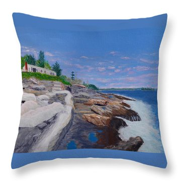 Weske Cottage Throw Pillow