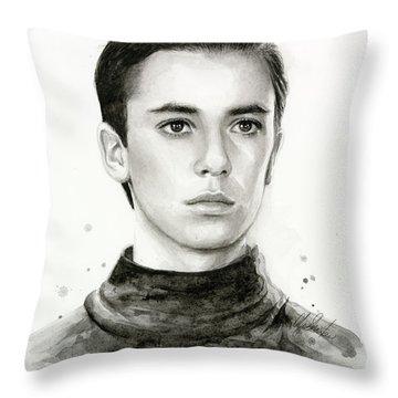 Wesley Crusher Star Trek Fan Art Throw Pillow