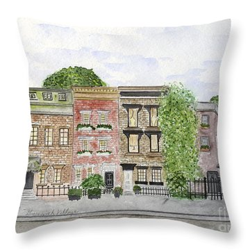 West 11th St In Greenwich Village Throw Pillow
