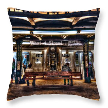 West 4th Street Subway Throw Pillow