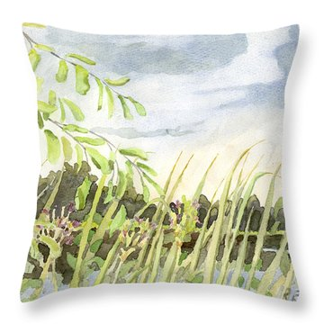 West Bay Napanee River Throw Pillow