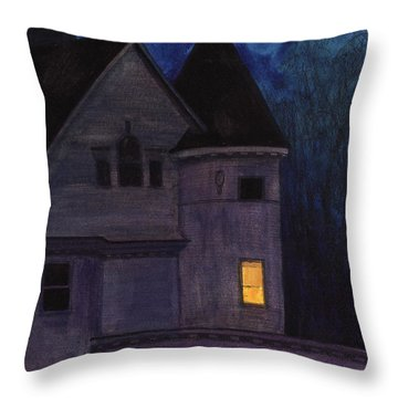 West Center Victorian Throw Pillow by Arthur Barnes