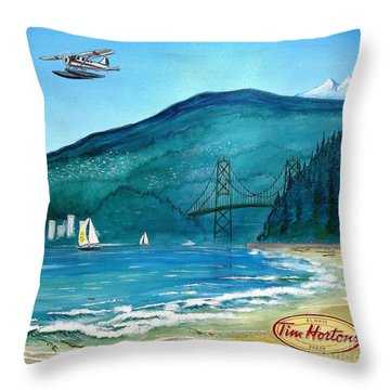 West Coast Dream Throw Pillow by John Lyes