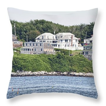 Throw Pillow featuring the photograph West End Long Island Maine by Richard Bean