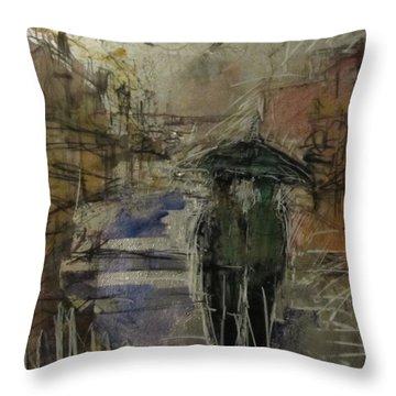 West End Rain Throw Pillow by Debbie Clarke