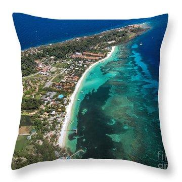 West End Roatan Honduras Throw Pillow