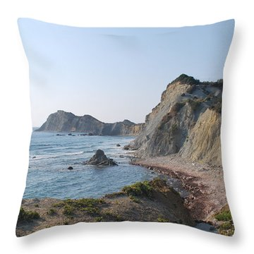 West Erikousa 1 Throw Pillow by George Katechis