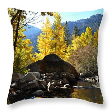 West Fork Of The Carson River Throw Pillow