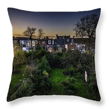 Throw Pillow featuring the photograph West Hampstead Sunset by Rob Tullis