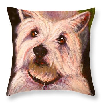 West Highland Terrier Reporting For Duty Throw Pillow