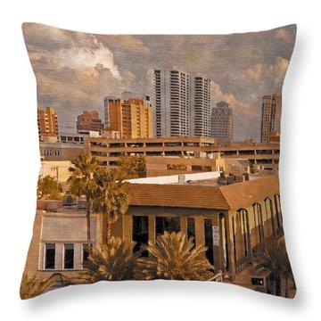 West Palm Beach Florida Throw Pillow by Debra and Dave Vanderlaan