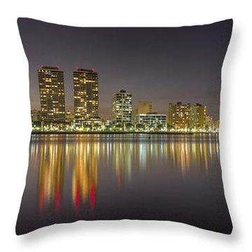 West Palm Beach Skyline Throw Pillow
