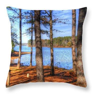 West Point Lake Throw Pillow