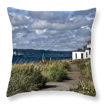 West Point Lighthouse 1 Throw Pillow