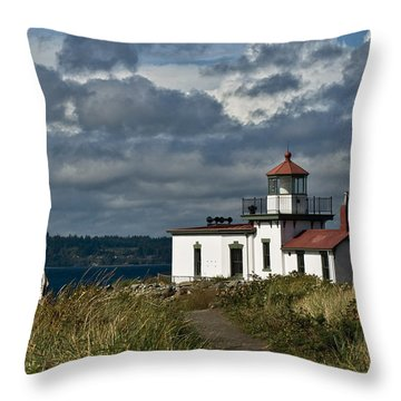 West Point Lighthouse 2 Throw Pillow